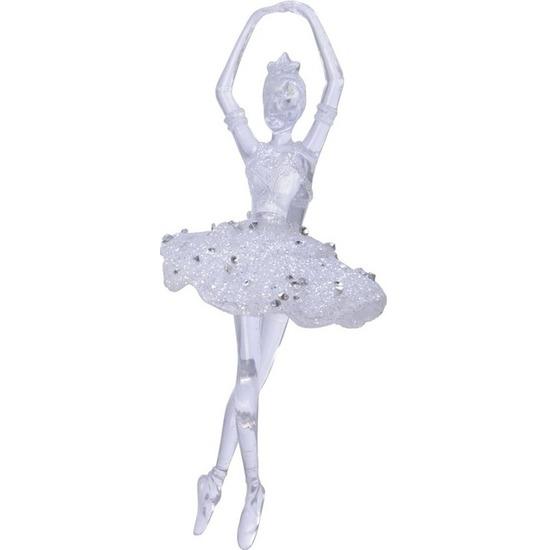 Ballerina kerstballen-hangdecoratie kerstversiering 17 cm