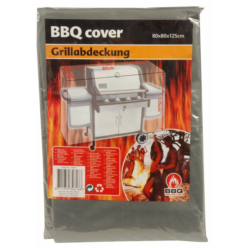 Barbecue beschermhoes 80 x 80 x 125 cm grijs
