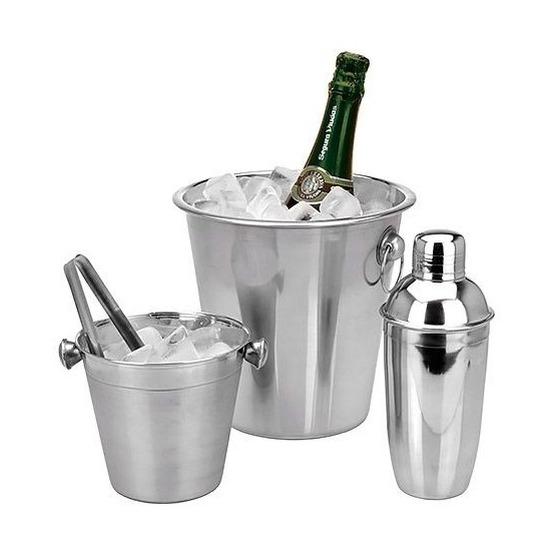 Barset ijsemmer-koelemmer-cocktailshaker
