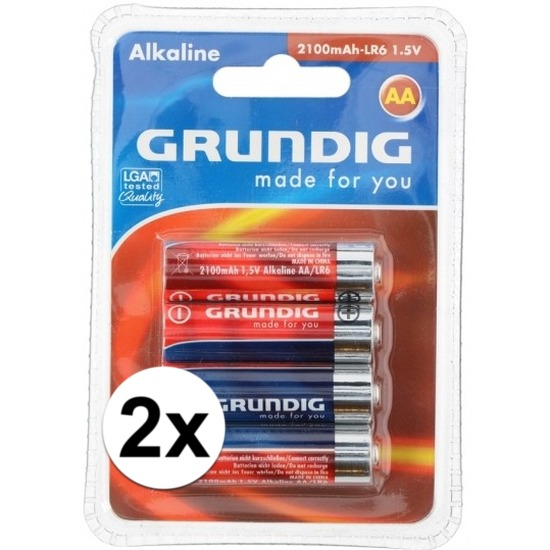 Batterijen LR6 AA Grundig 8 stuks