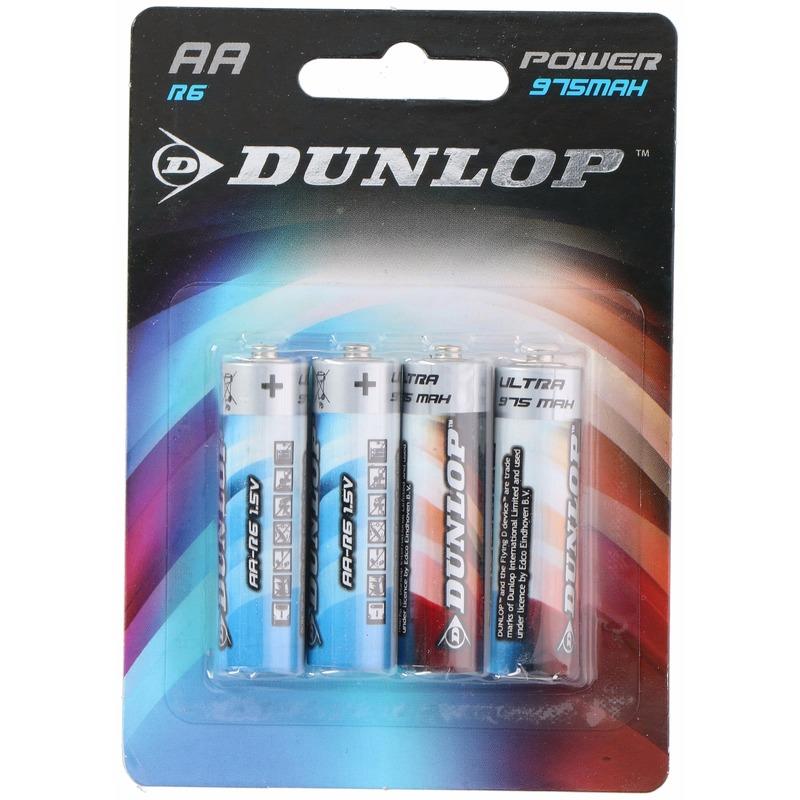 Batterijen R6 AA Dunlop 4 stuks