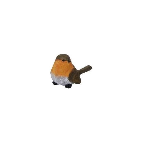Beeldjes Roodborst vogels 7 cm