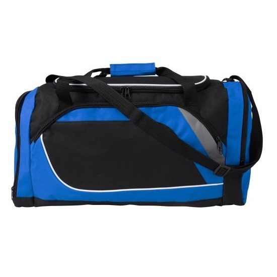 Blauw met zwarte sporttas-reistas 45 liter