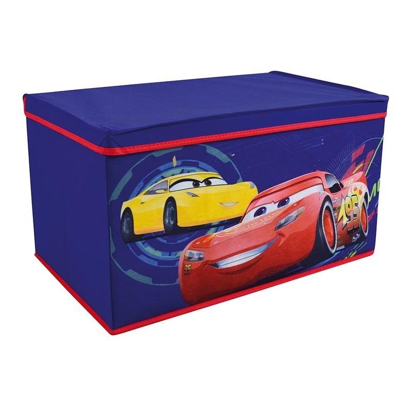 Blauwe Cars Pixar-Disney speelgoed opbergbox 55 cm