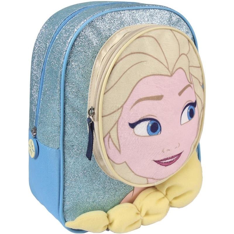 Blauwe Frozen rugtas-rugzak Elsa 23 x 28 cm voor meisjes