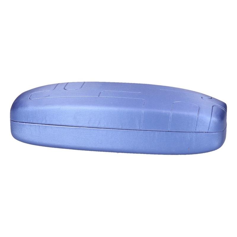 0085b8496b387b Blauwe harde brillenkoker in Zonnebrillen winkel