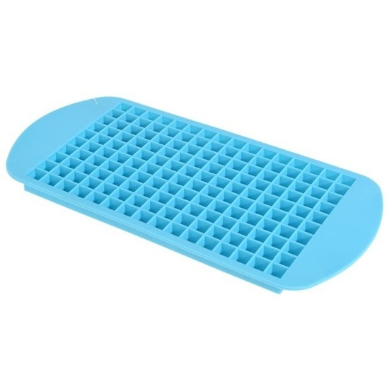 Blauwe mini ijsblokjes maker