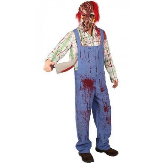Bloederig zombie kostuum. een griezelig bebloed kostuum van een clown zombie. dit halloween kostuum bestaat ...