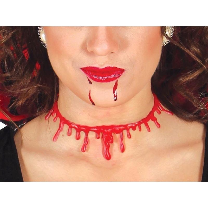 Bloederige nek ketting voor dames