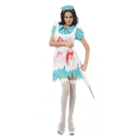 Enge Kostuums Halloween.Enge Zuster Kostuum Met Bloedvegen In Halloween Kostuums Winkel
