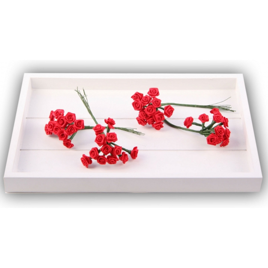 Bosje rode decoratie rozen 12 cm