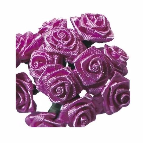Bosje roze decoratie rozen 12 cm