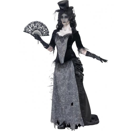 Zwarte weduwe halloween kostuum. compleet kostuum van de geest van de zwarte weduwe. het spook kostuum is ...
