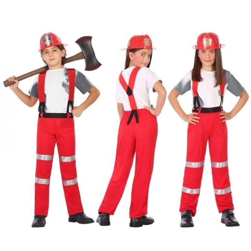 Brandweer pak-verkleed kostuum voor jongens en meisjes