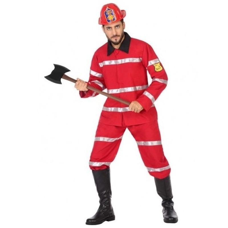 Brandweerman verkleed kostuum voor heren