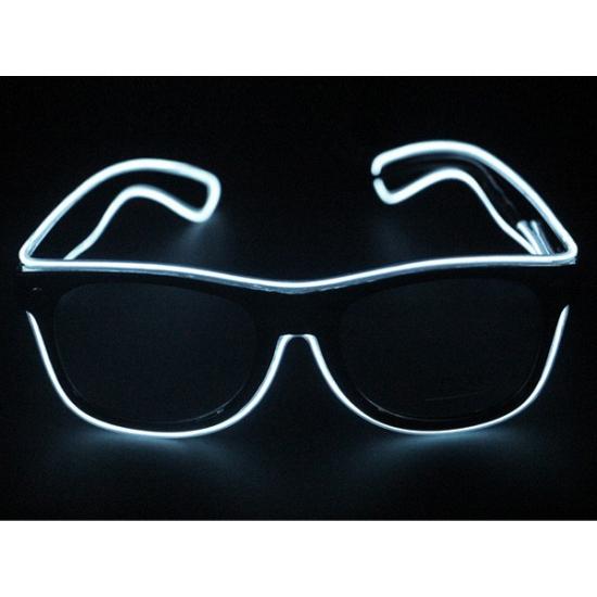 Bril met witte LED verlichting