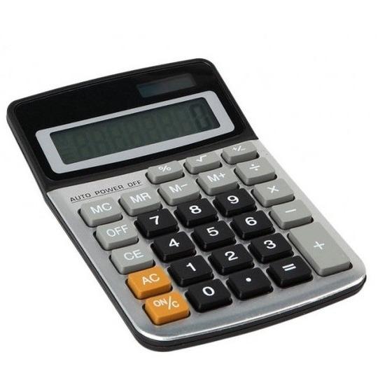 Bureau-kantoor rekenmachine-calculator op zonne-energie