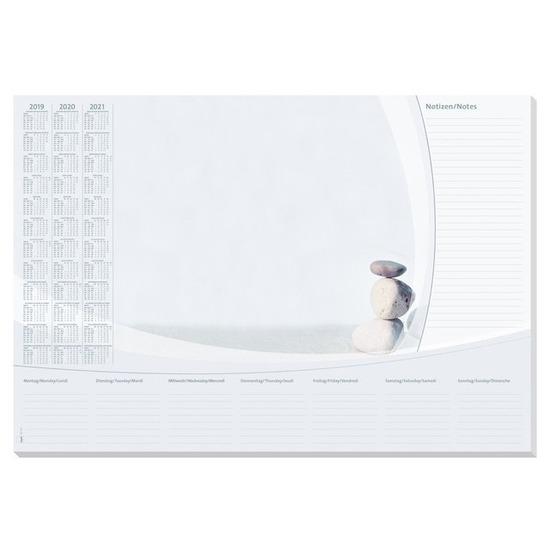 Bureau onderlegger papier 41 x 59,5 cm met kalender 30 vellen