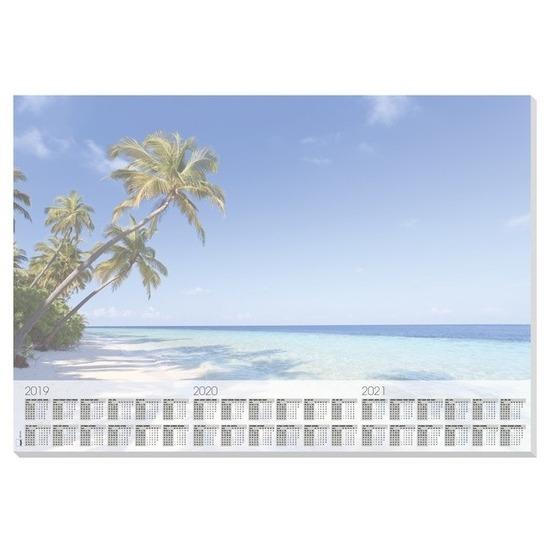 Bureau onderleggger papier 41 x 59,5 cm met kalender 30 vellen