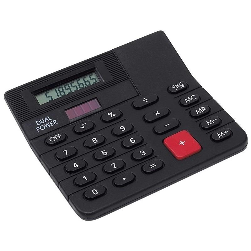 Bureau rekenmachine zwart 12 cm