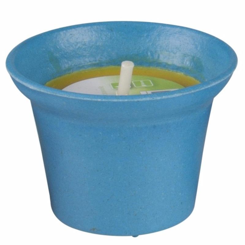Geen Citronella kaars 10 cm blauw Tuin artikelen