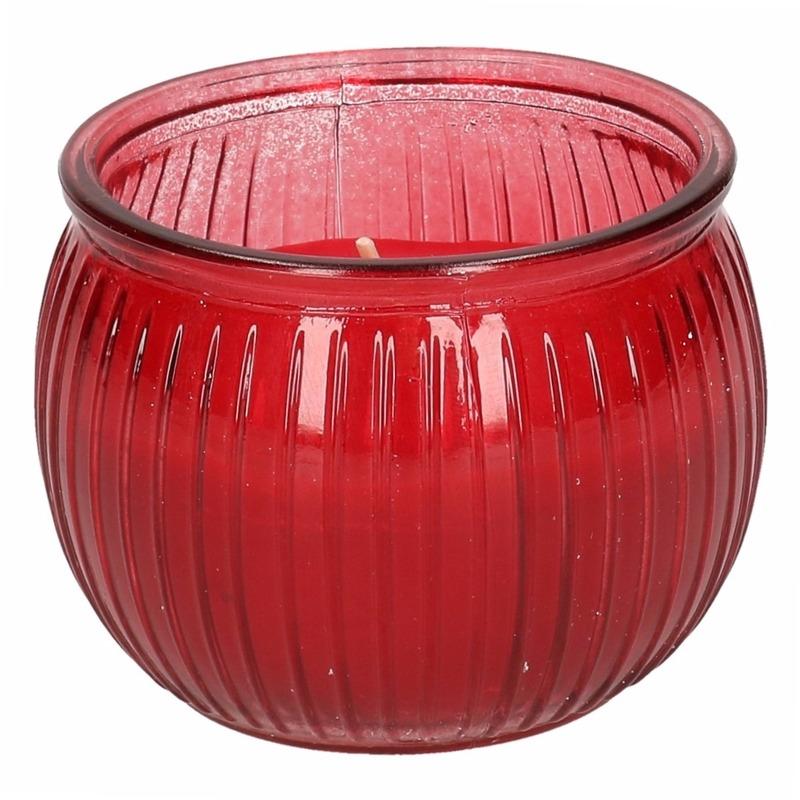 Tuin artikelen Geen Citronella kaars 7,5 cm rood