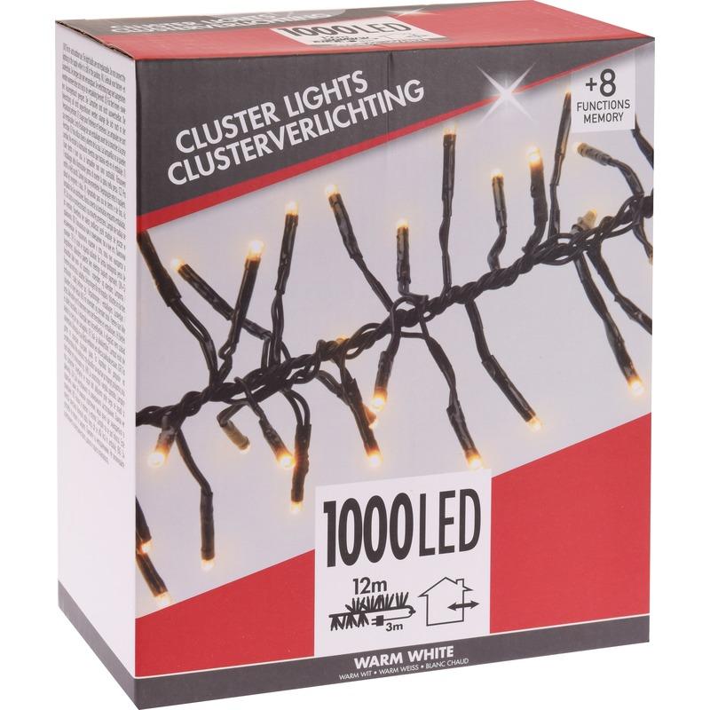 Clusterverlichting budget warm wit buiten 1000 lampjes