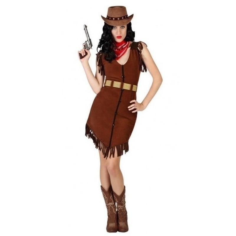 Cowgirl-Western verkleed jurkje met franjes voor dames