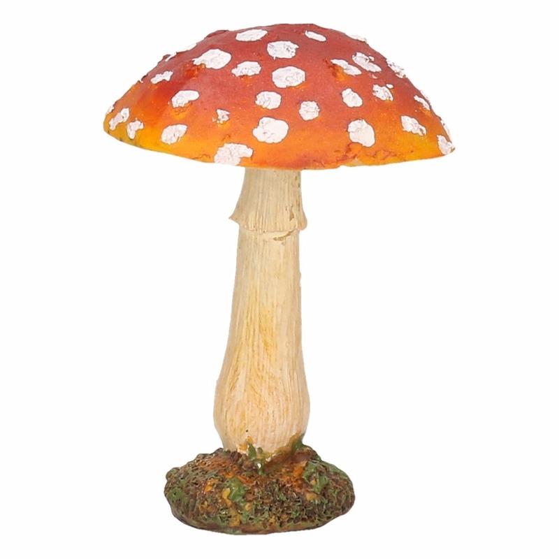 Decoratie beeld paddenstoel 10 cm