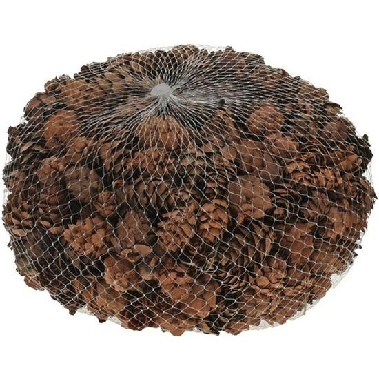 Decoratie dennenappels bruin 3 cm