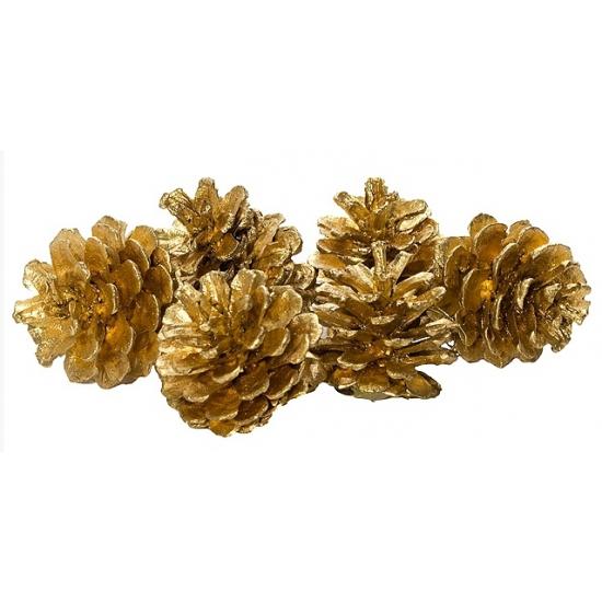 Decoratie dennenappels goud 20 stuks