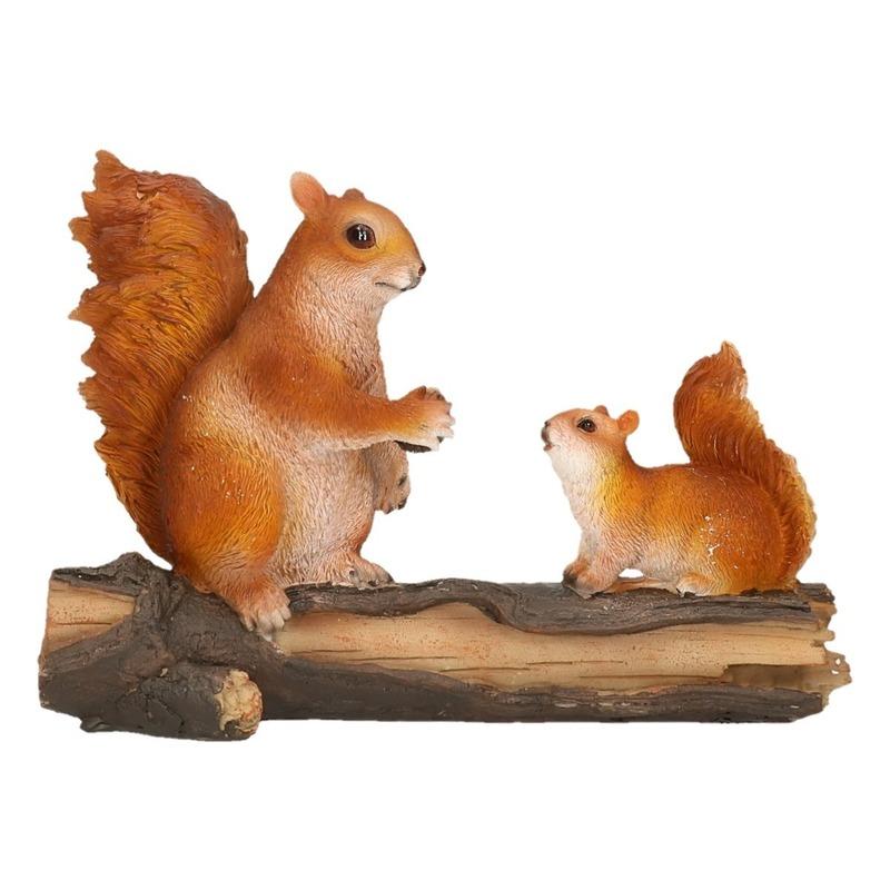 Decoratie eekhoorntjes 24 x 10 x 18 cm