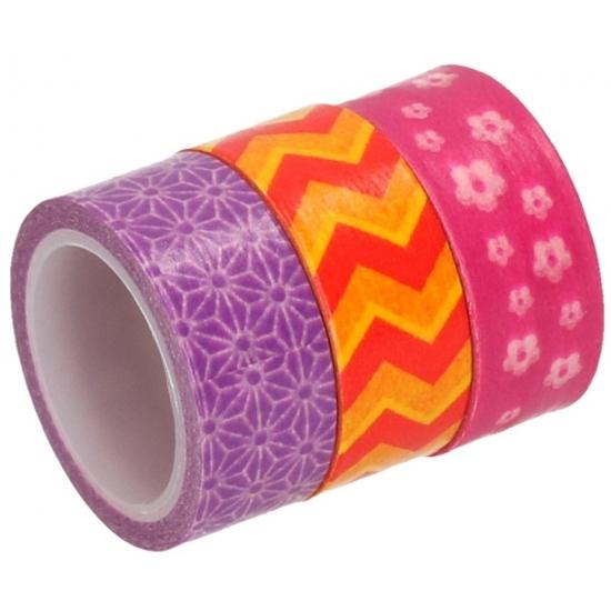 Decoratiemateriaal washi tape 3 rollen