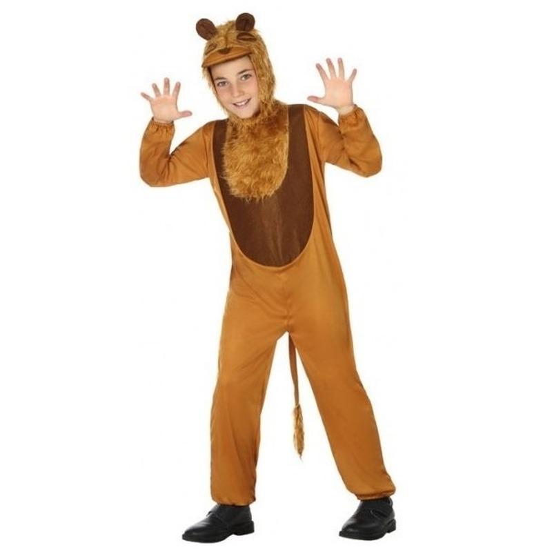 Dierenpak leeuw-leeuwen verkleed kostuum voor kinderen