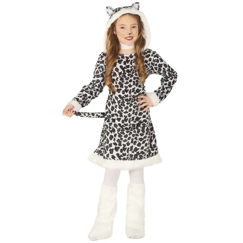 Dierenpak luipaard verkleedjurkje voor meisjes