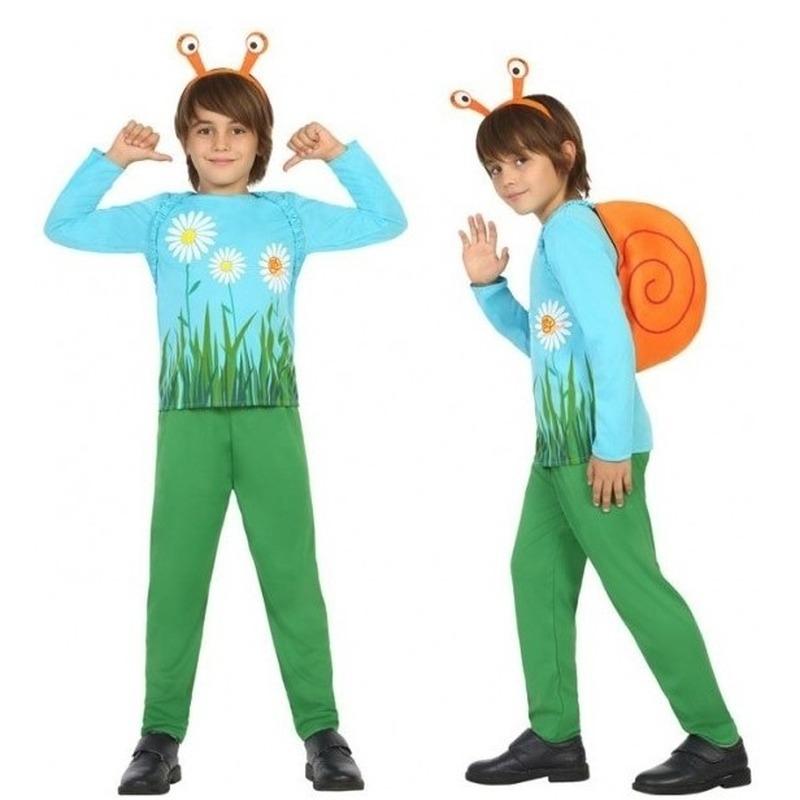 Dierenpak slak-slakken verkleed kostuum voor jongens