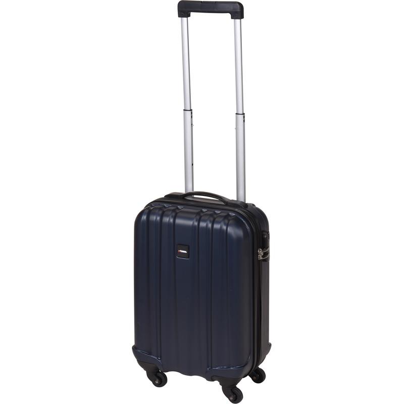 Donkerblauwe handbagage trolley 45 cm