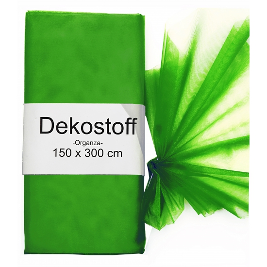 Donkergroene gaas stof op rol 150 x 300 cm
