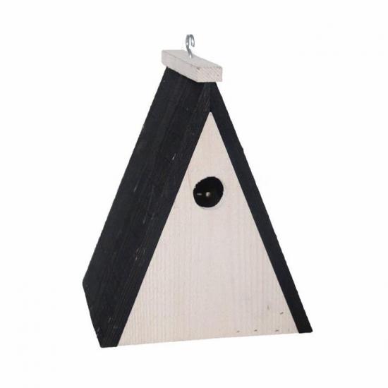 Tuin artikelen Capshopper Driehoekig vogelhuisje hout 18 cm