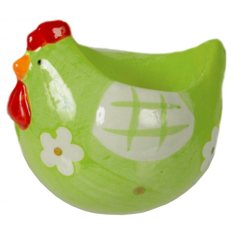 Eierdop kip groen 8 cm
