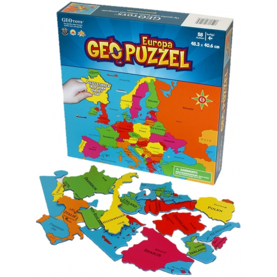 Europa puzzel voor kinderen