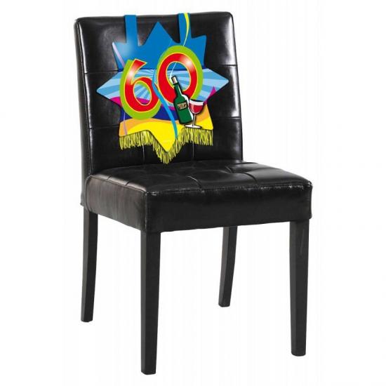 Feest versiering stoel 60 jaar