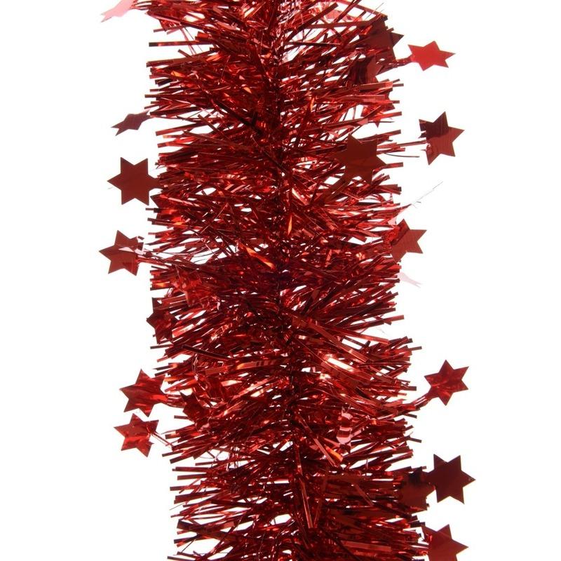 Feestslinger met sterren rood 10 x 270 cm