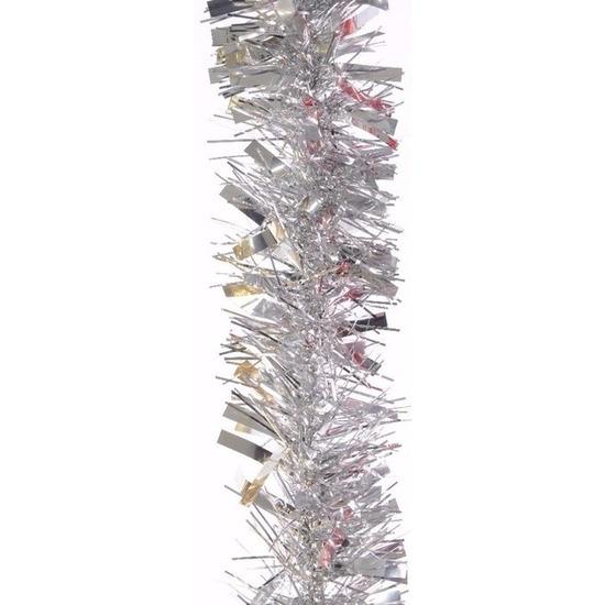 Feestslinger zilver folie 7.5 x 200 cm