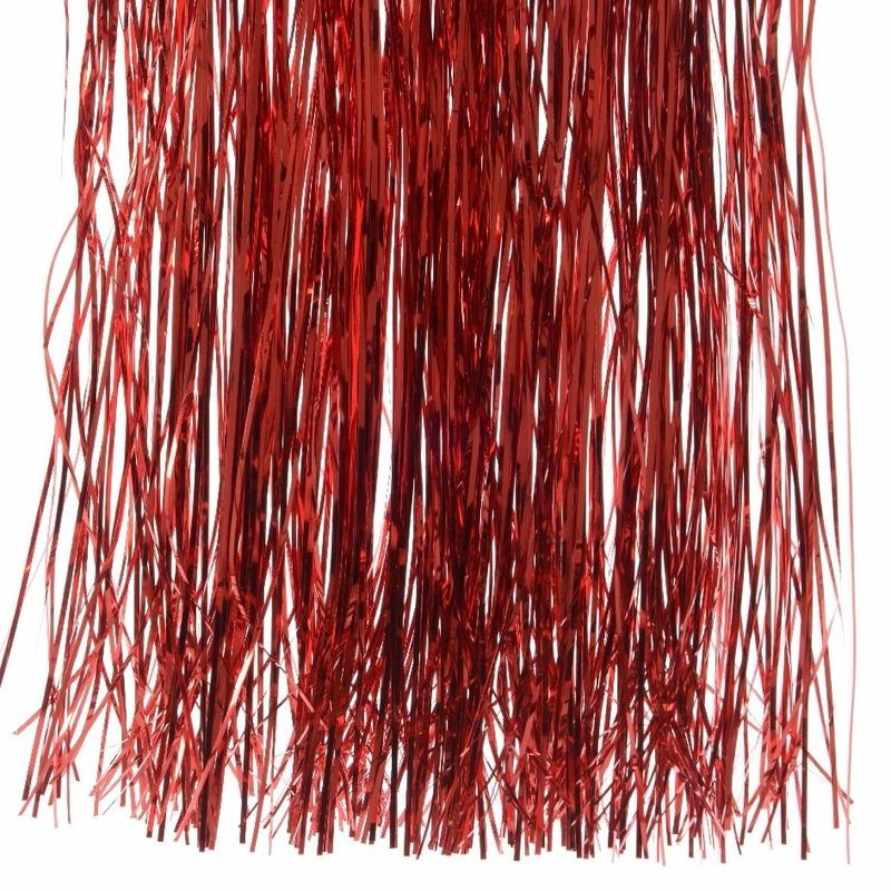 Feestversiering rode folie slierten 50 cm