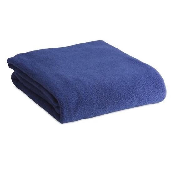 Fleece deken-plaid blauw 120 x 150 cm