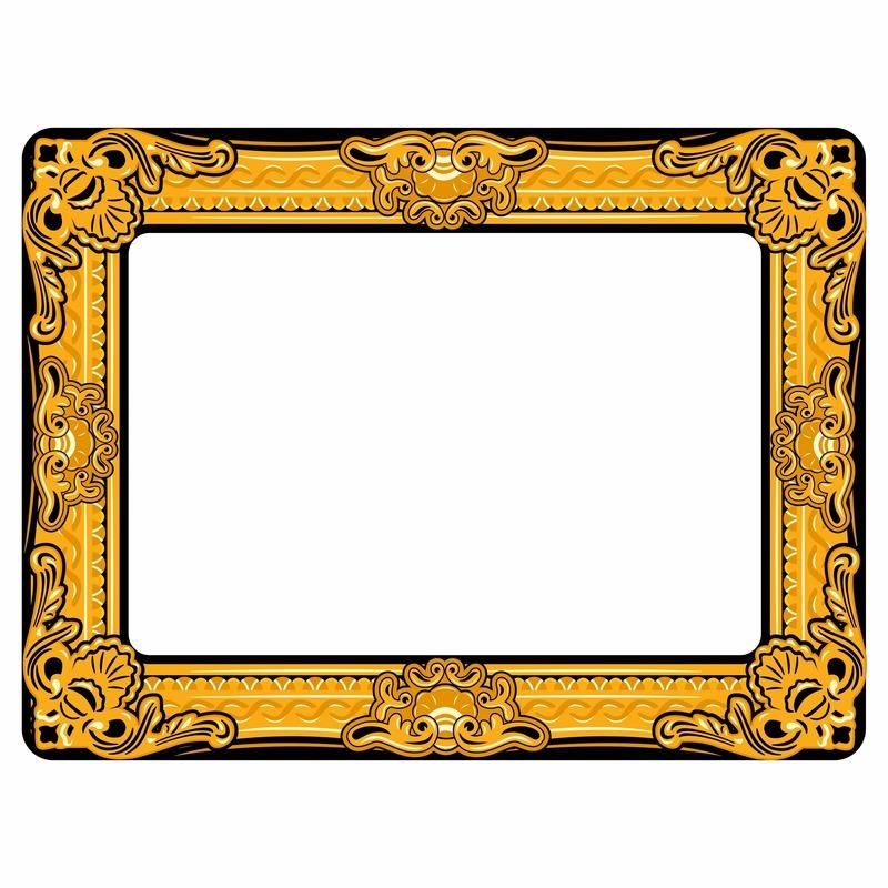 Foto prop opblaasbare fotolijst 60 x 80 cm