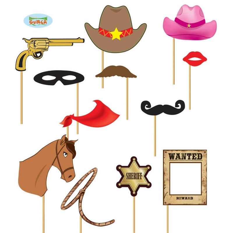 Foto prop set cowboy 12 delig