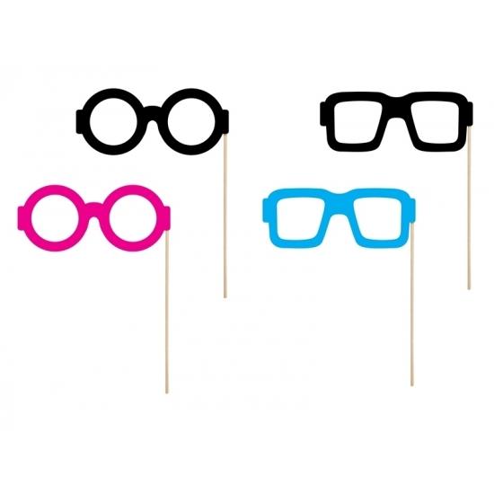Foto prop set met brillen