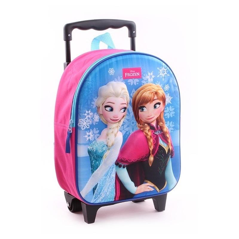 Frozen koffer-trolley roze voor meisjes